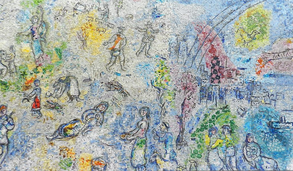 Marc Chagall's Four Seasons mosaic_ various