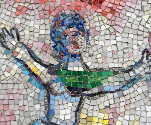 Mosaics in Chicago. Part III_Marc Chagall's Four Seasons mosaic.