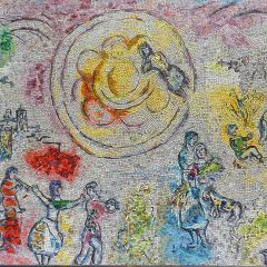 Marc Chagall's Four Seasons mosaic_ summer