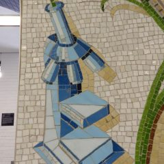 Mosaics in Chicago_Bachor's Thrive mosaic, Thorndale station, microscope detail.