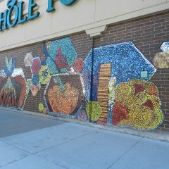 Mosaics in Chicago_Green Star Movement mosaic, Whole Foods.