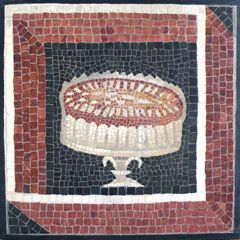 Art Institute of Chicago _ cake stand mosaic with border