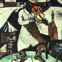 Marc Chagall's Four Seasons mosaic_ Chagall's fiddler.