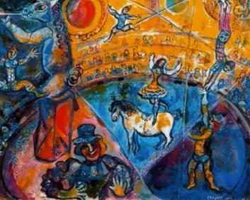 Marc Chagall's Four Seasons mosaic_Chagall's circus.