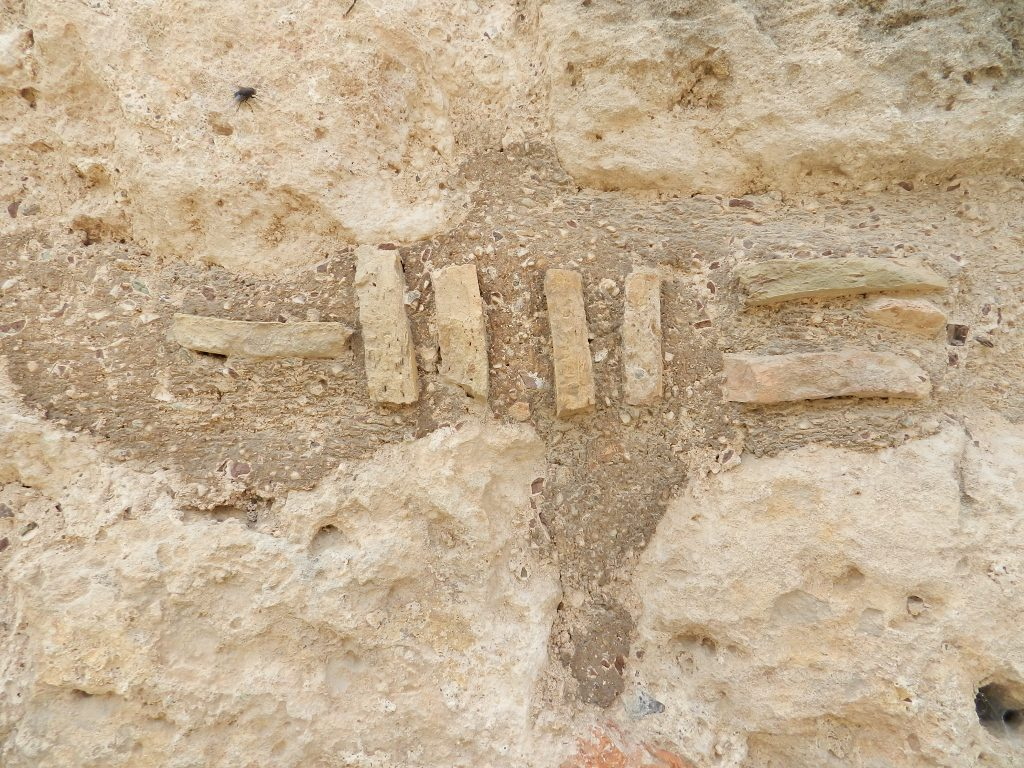 Wall, detail, Acrocorinth, Greece.