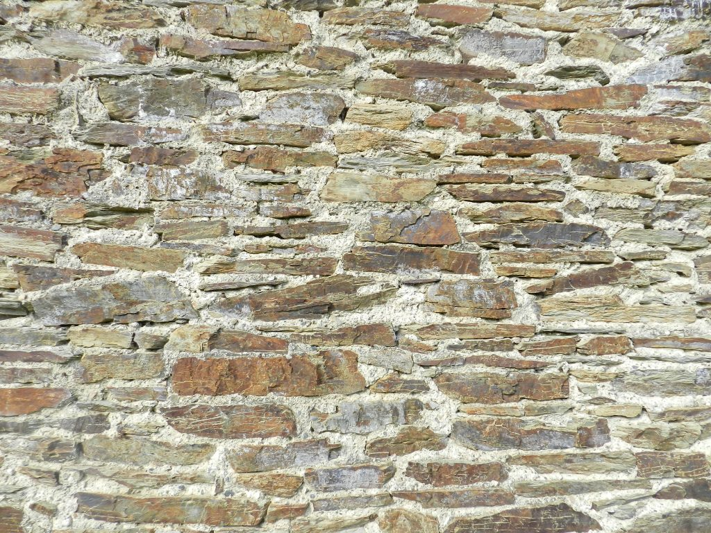 House wall, Normandy, France.