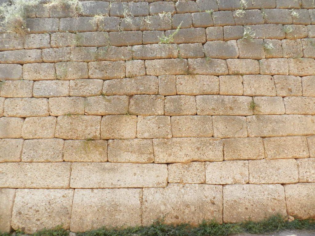 Mycenae wall, Greece.