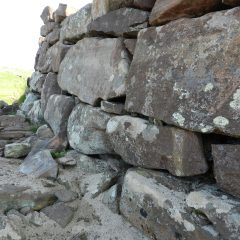 Iron Age fort wall, Clacktoll, Sutherland, Scotland