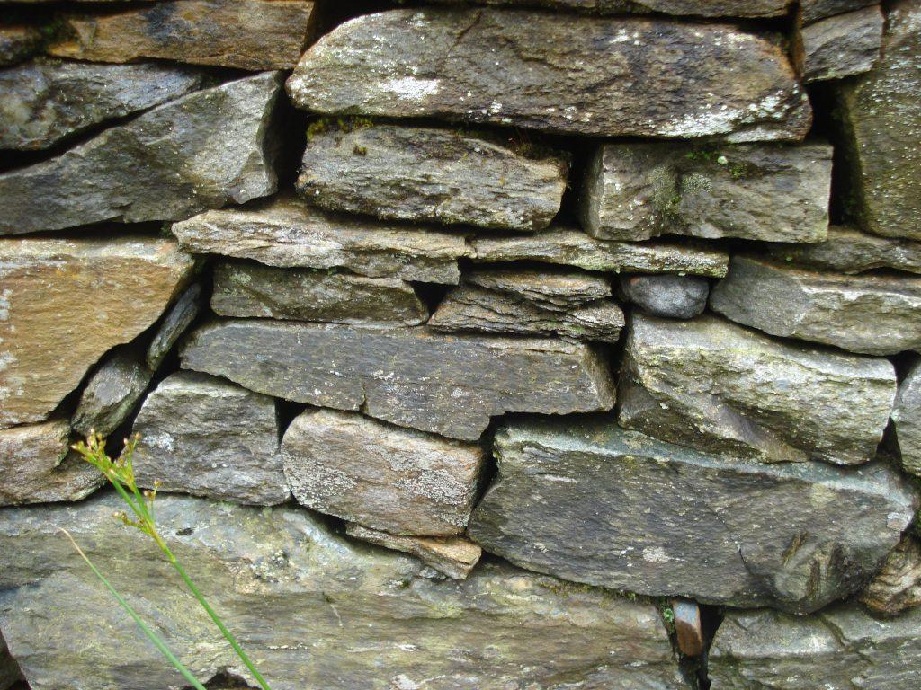 Dry stone wall, Argyll, Scotland.