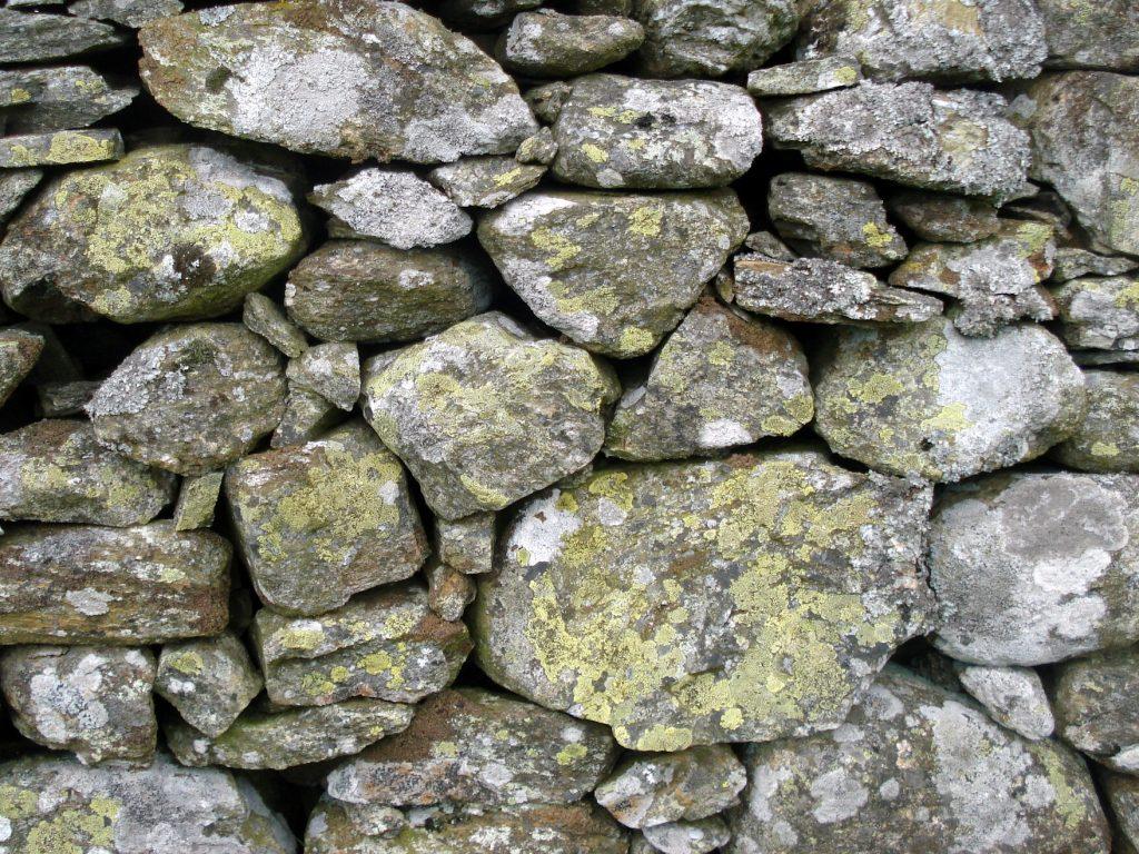 Dry stone wall, Perthshire, Scotland.