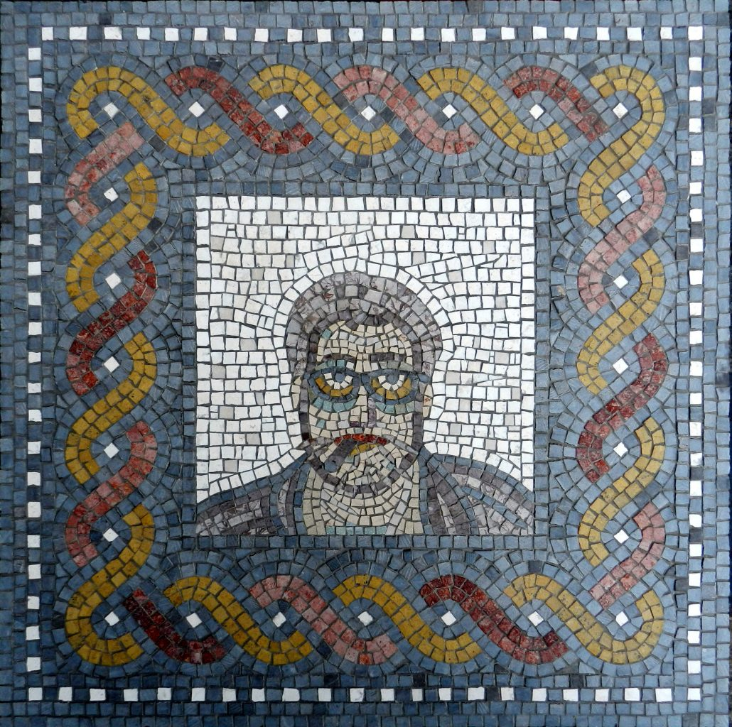 Seeing eye to eye: ancient mosaic faces (and one of my own)