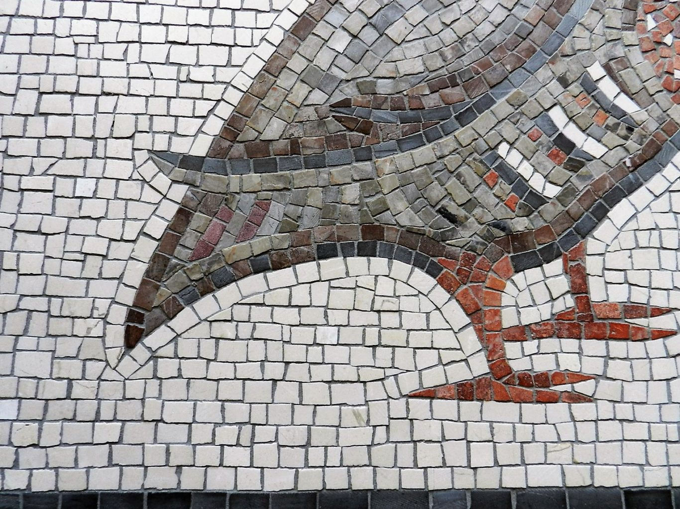 mosaic bird detail