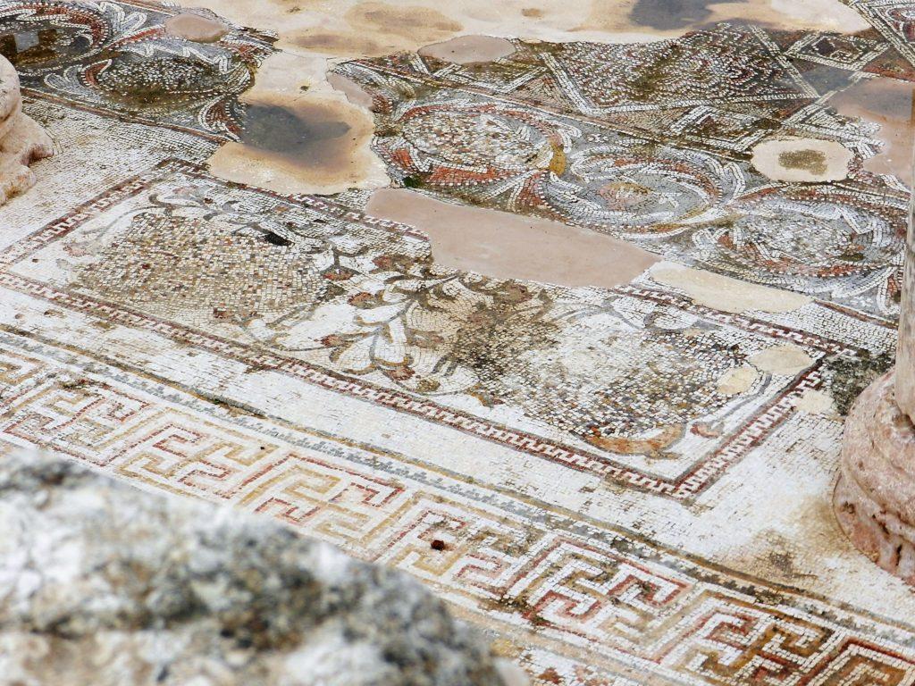 damaged mosaic floor