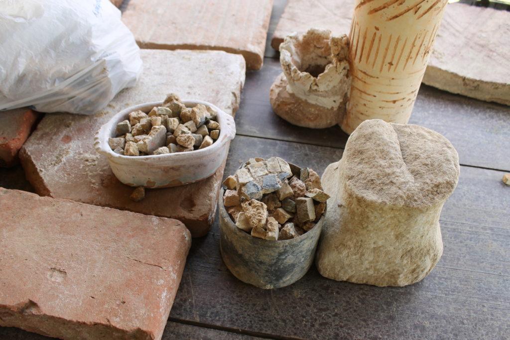 ancient mosaic tesserae