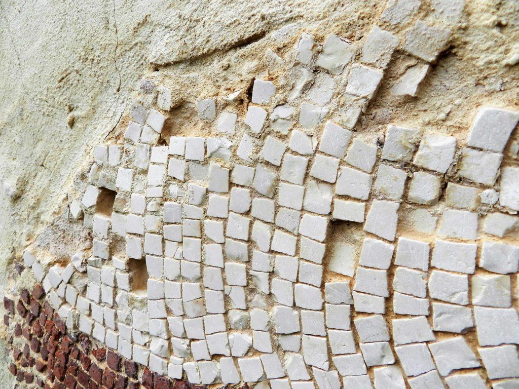 damaged ancient mosaic