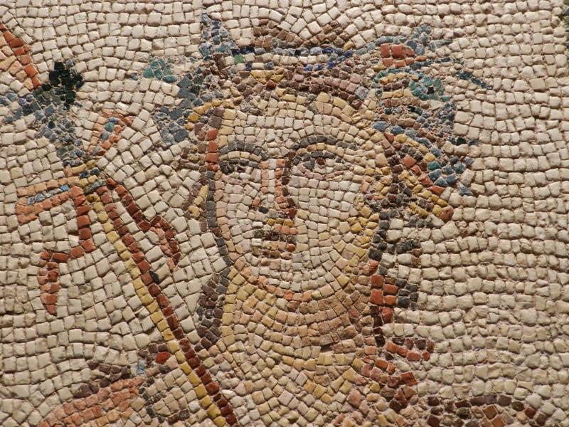 ancient mosaic face