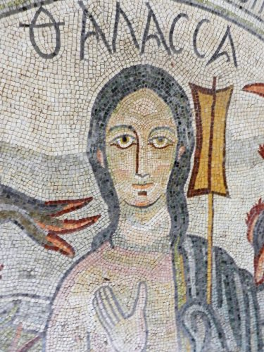 mosaic representation of the sea