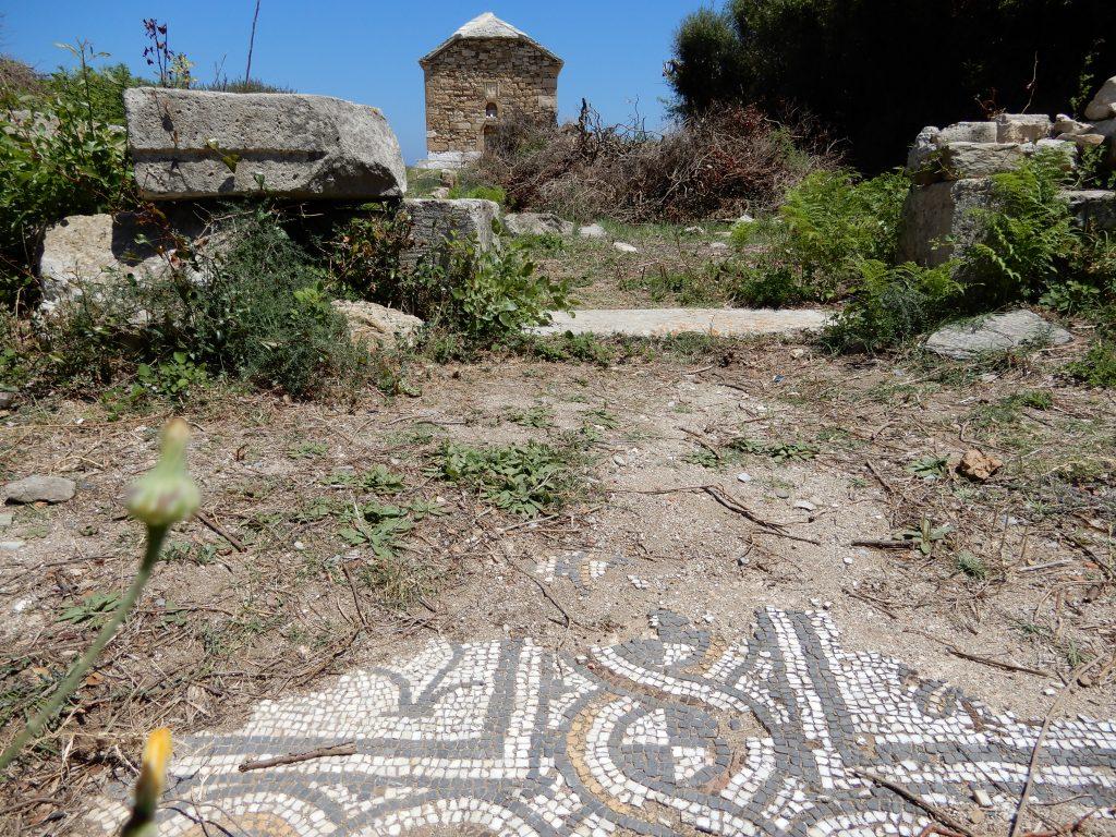byzantine mosaic fragments.