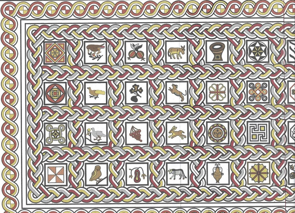 digital reconstruction of Byzantine mosaic floor