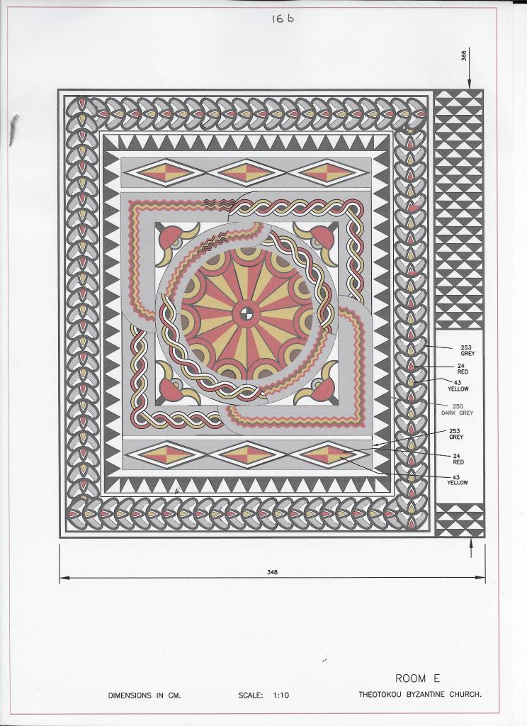 mosaic floor digitally reconstructed