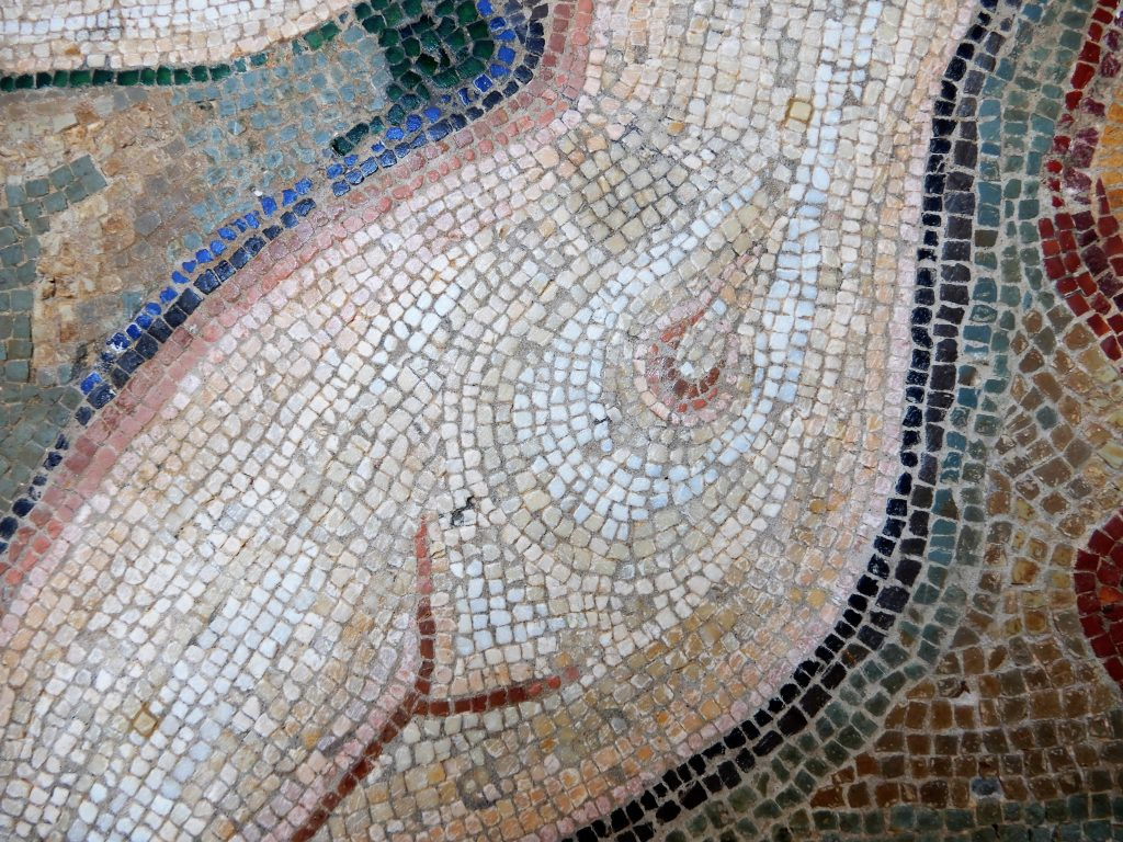 mosaic of naked torso