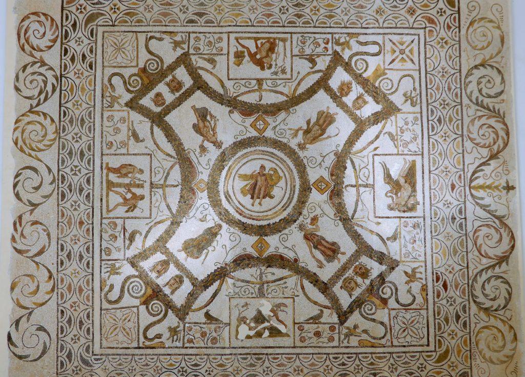 mosaic of the rape of ganymede