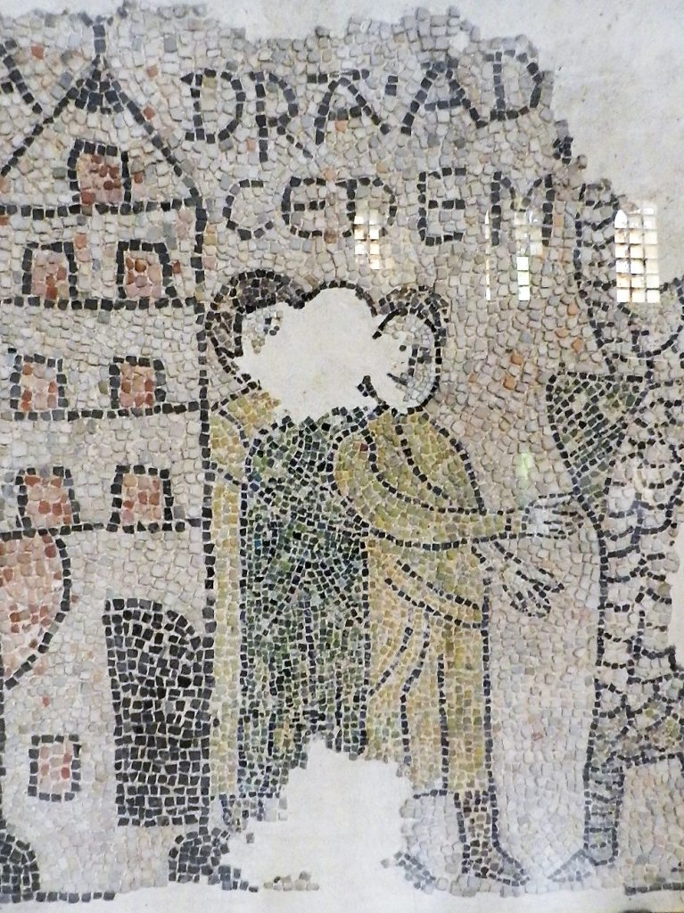 Civilians. Mosaics of San Giovanni Evangelista, Ravenna