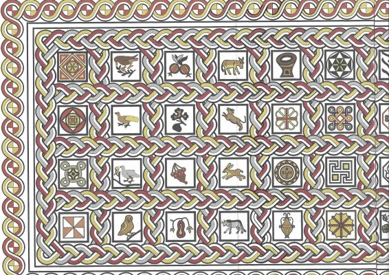 A transgender cow, incongruous crustaceans and a boar-dog: the surprising tale of reconstructing a Byzantine mosaic floor