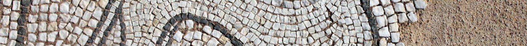 The early Christian mosaics of Delphi, Greece.